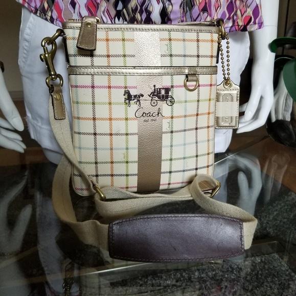 Coach Handbags - Beautiful COACH Plaid Crossbody.